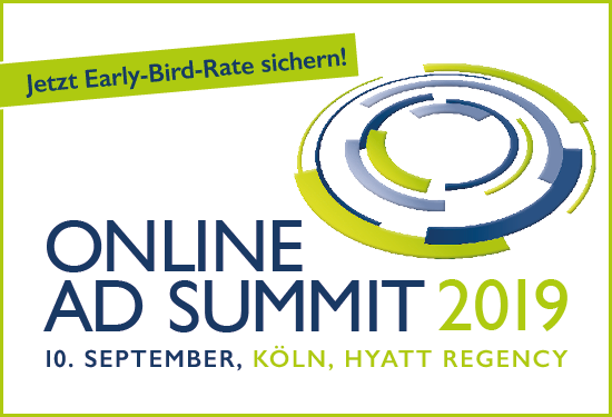 Online Ad Summit 2019: Early-Bird-Phase sowie Call for Papers eröffnet